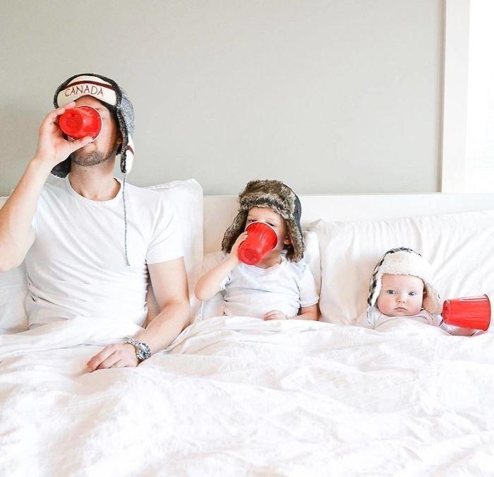 Смешные картинки семьи с детьми
