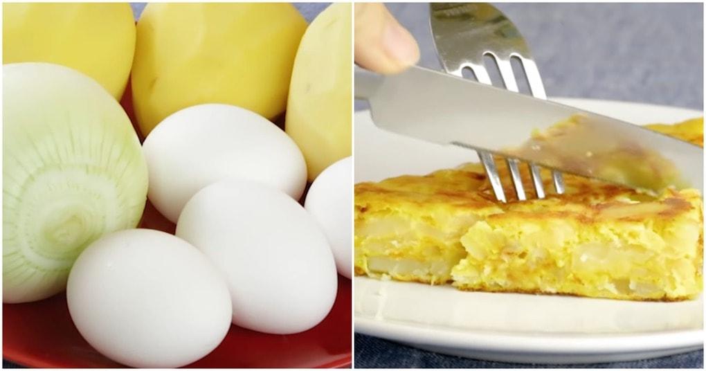 Испанский омлет — вкусный и сытный завтрак из доступных продуктов