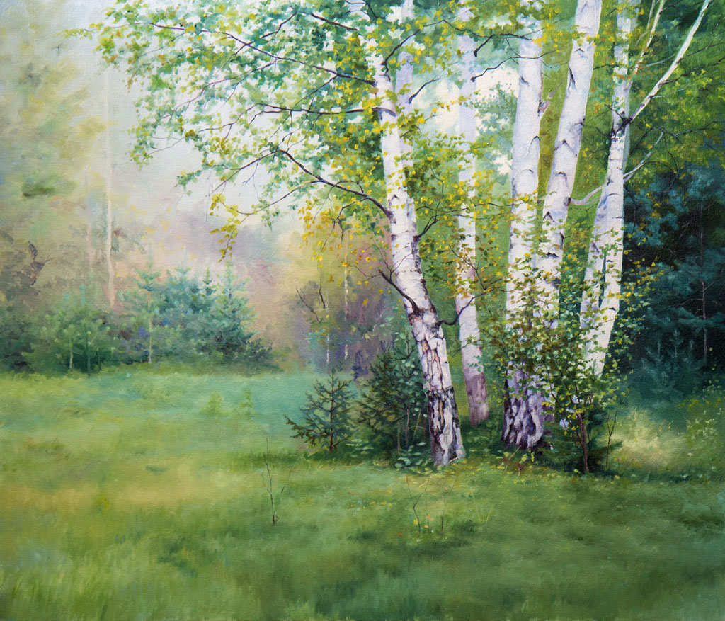 Пейзажи с русскою душой, художник Влад Сафронов