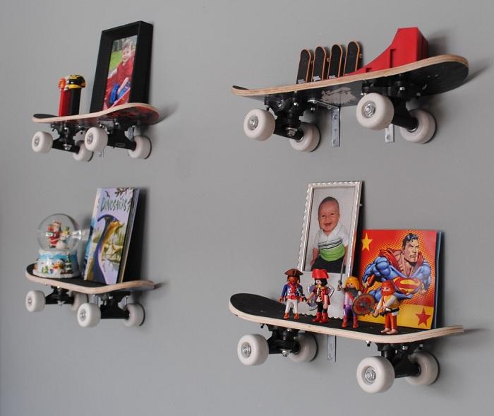 Скейт-полки для деткой комнаты.