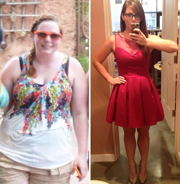 Преображение внешности до и после похудения