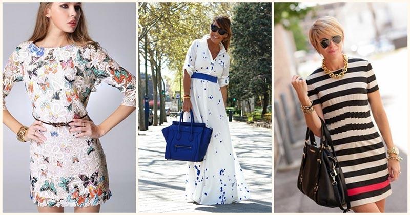 Оригинальные модели платьев на лето-осень для разных типов фигур