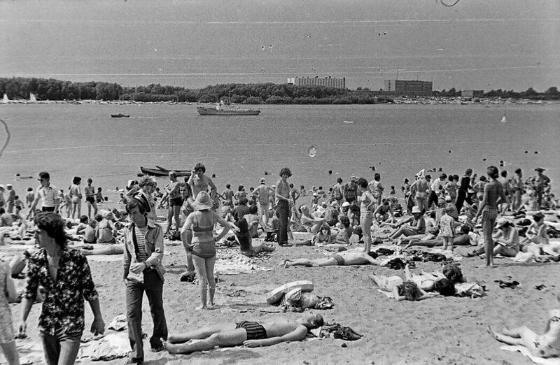 Омск СССР, пляж, ретроспектива