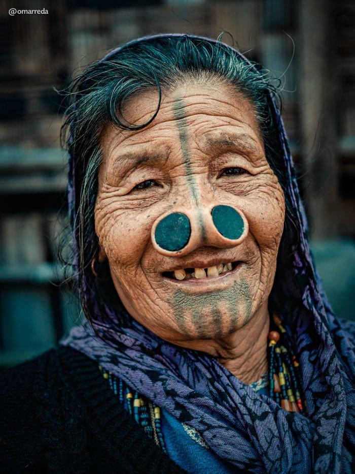 10. апатани, женщина, индия, народ, портрет, традиция, фотография, фотомир