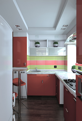 Дизайн маленькой кухни от Дениса Черного