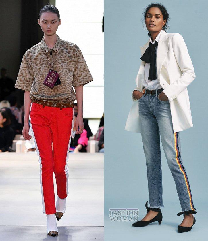 Модные джинсы весна-лето 2019 фото №38