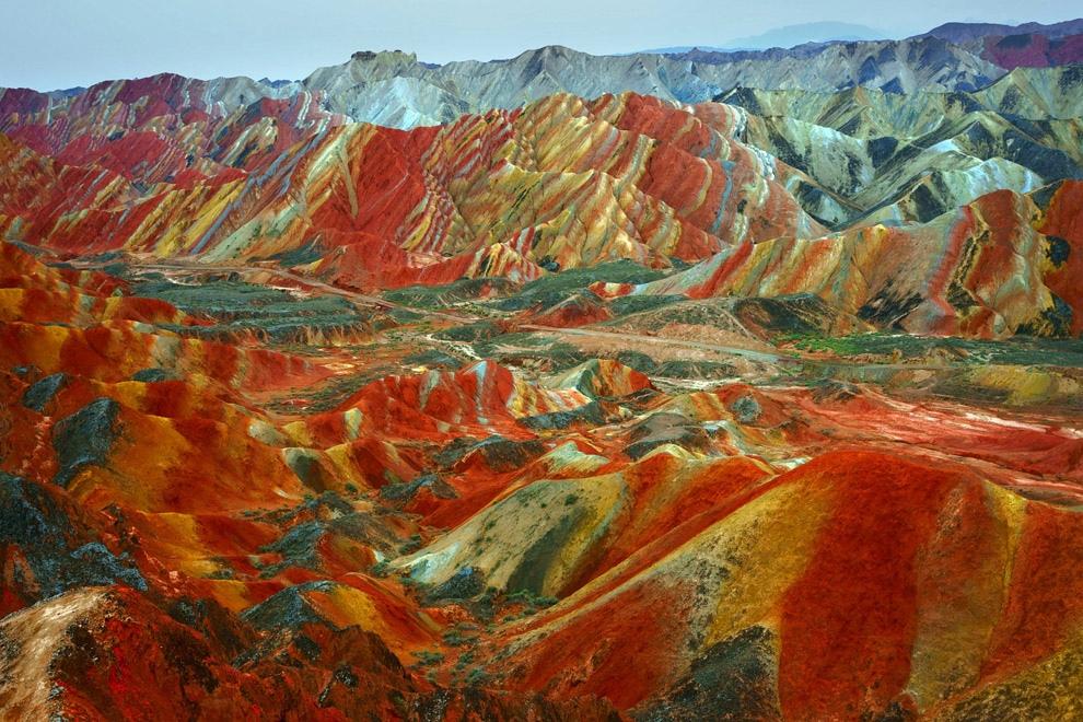 6 сказочных фото разноцветных гор Дэнксия в Китае горы,Китай,природа
