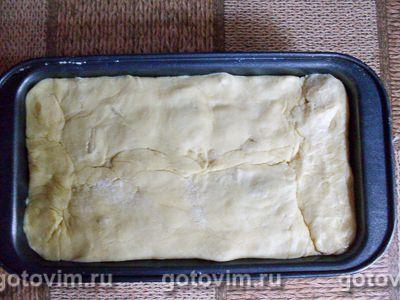 Песочный пирог с курицей, картофелем и черемшой, Шаг 08