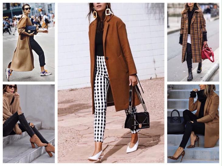 коричневый с черным сочетание в одежде