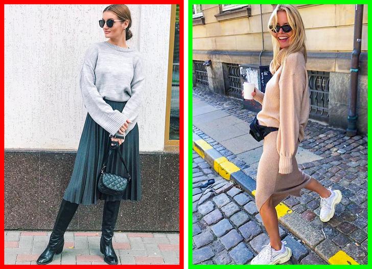 8 запрещенных сочетаний в одежде, из-за которых весь образ станет нелепым (Никогда не надевайте коктейльное платье с сапогами)