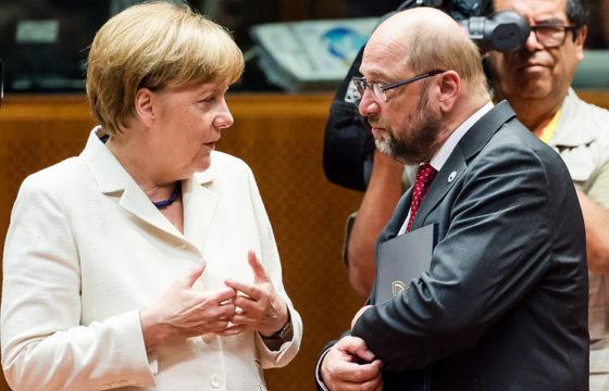 На финише: предварительные итоги предвыборной компании подводят у Меркель и Шульца