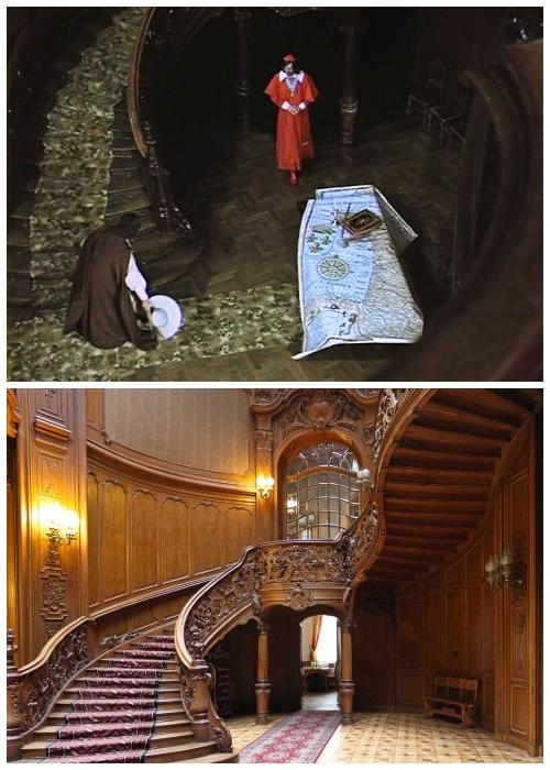 Дом ученых на время съемок кинофильма превратился во дворец кардинала Ришелье («Д'Артаньян и три мушкетера», Львов).