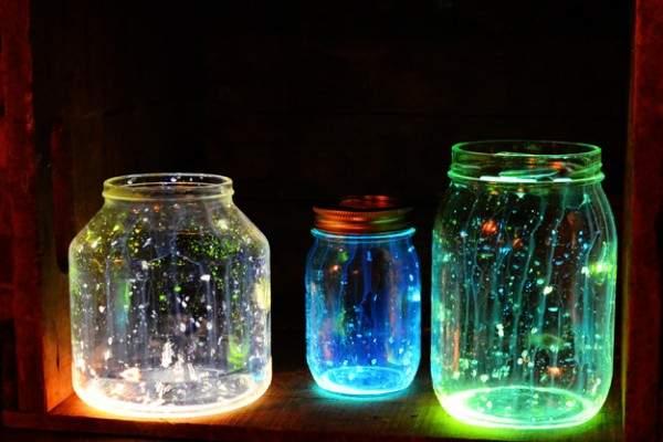 Идеи для дома своими руками - фото люминесцентного декора