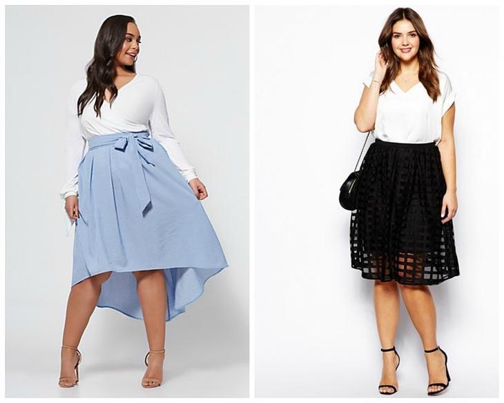 Как подобрать юбку для широких бедер?