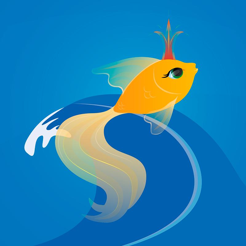 Лучший друг, картинки рыбка золотая