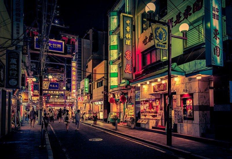 Прогулка ночью красота, мечта, путешествие, страна, фотография, фотомир, япония