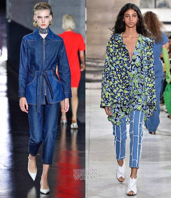 Модные джинсы весна-лето 2019 фото №19