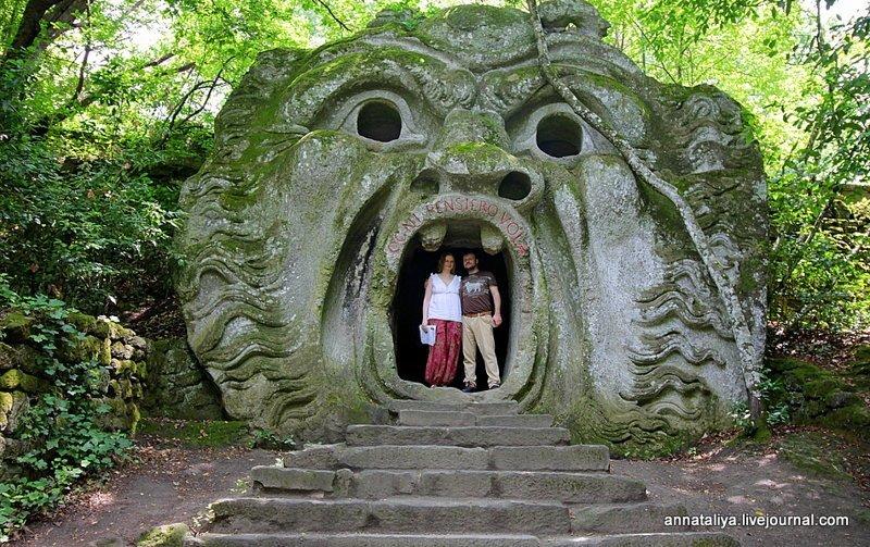 Италия. Сад чудовищ в Бомарцо (35 фото)