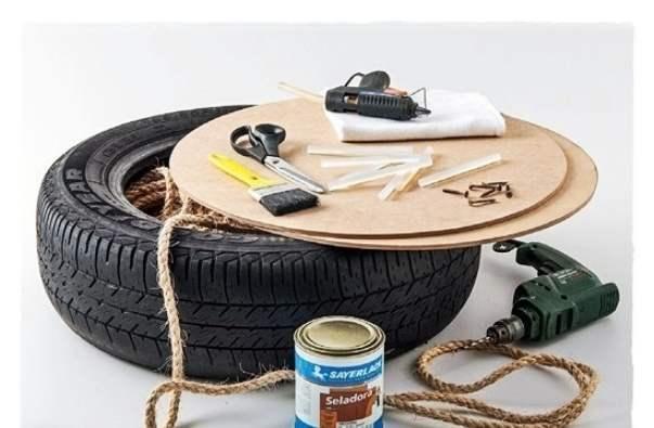Поделки из шин для сада и дома для дома и дачи,мастер-класс,новая жизнь старых вещей