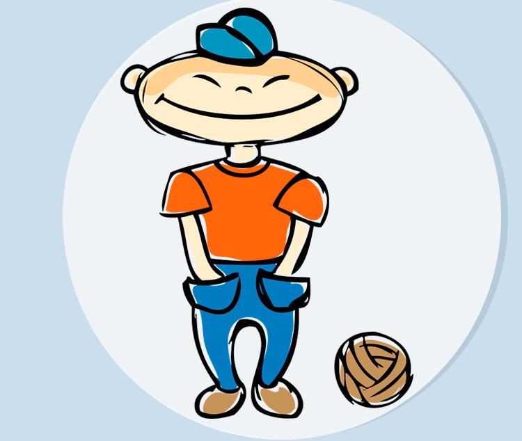 Маленький хитрец с мячом