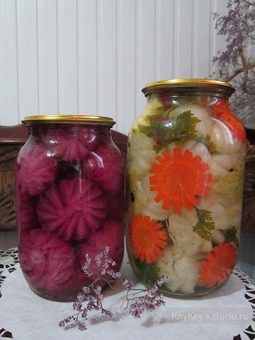 Карвинг из овощей, фото. Украшение заготовок