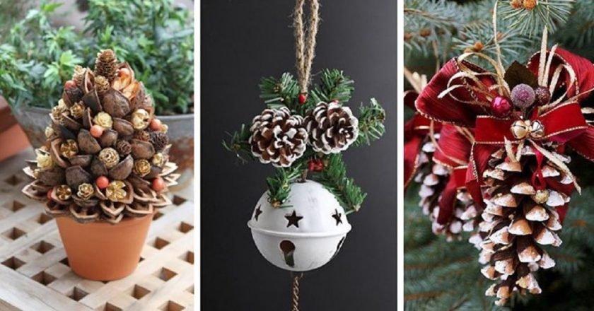 Композиции из шишек: 15 идей для зимнего декора