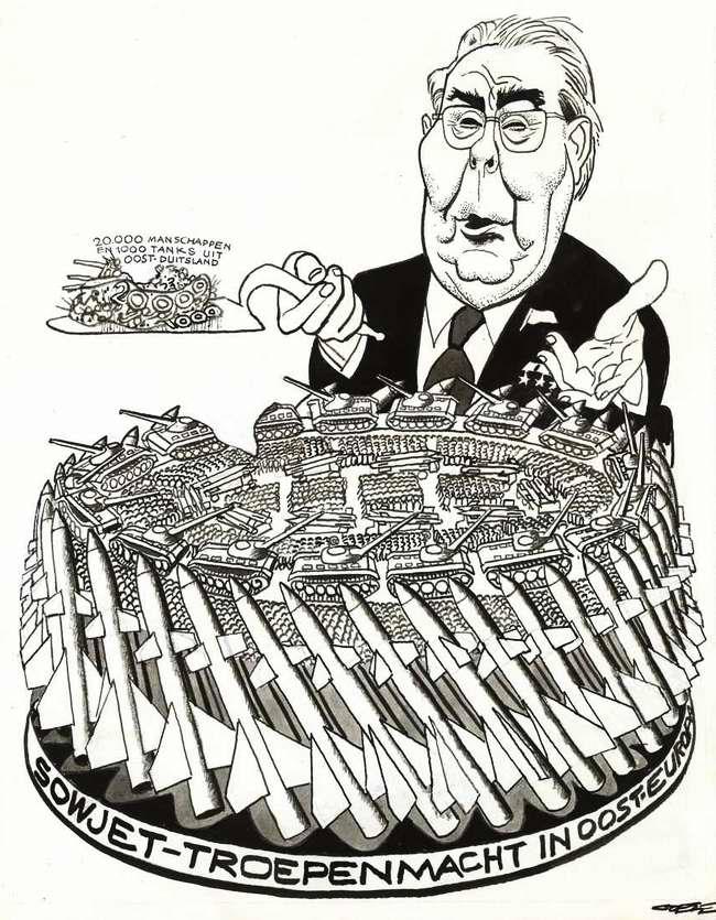 Чем был опасен врагам Леонид Брежнев:  наглядно в  карикатурах  западных журналов 60-х - 80-х