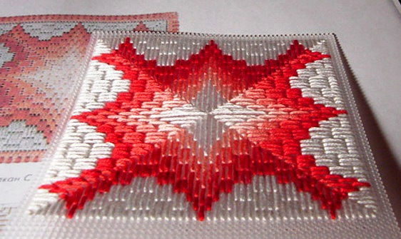 Вышивка факельных узоров в итальянском стиле
