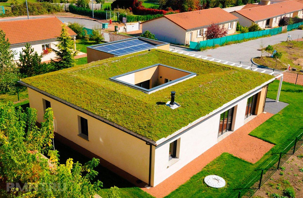 можно фото дачного дома с башнями плоской крыши как