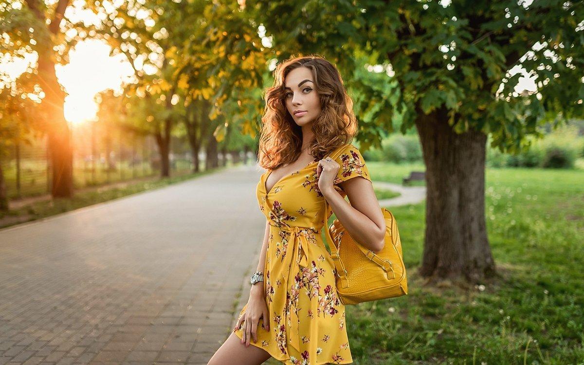 Подборка красивых и милых фотографий: девушки на природе