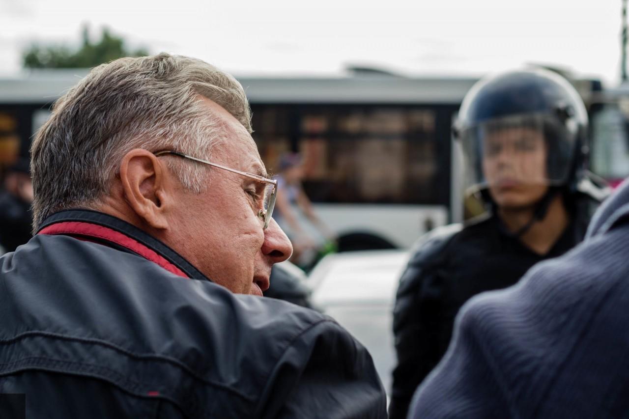 «Явный провал»: несанкционированный митинг против пенсионной реформы проходит в Петербурге