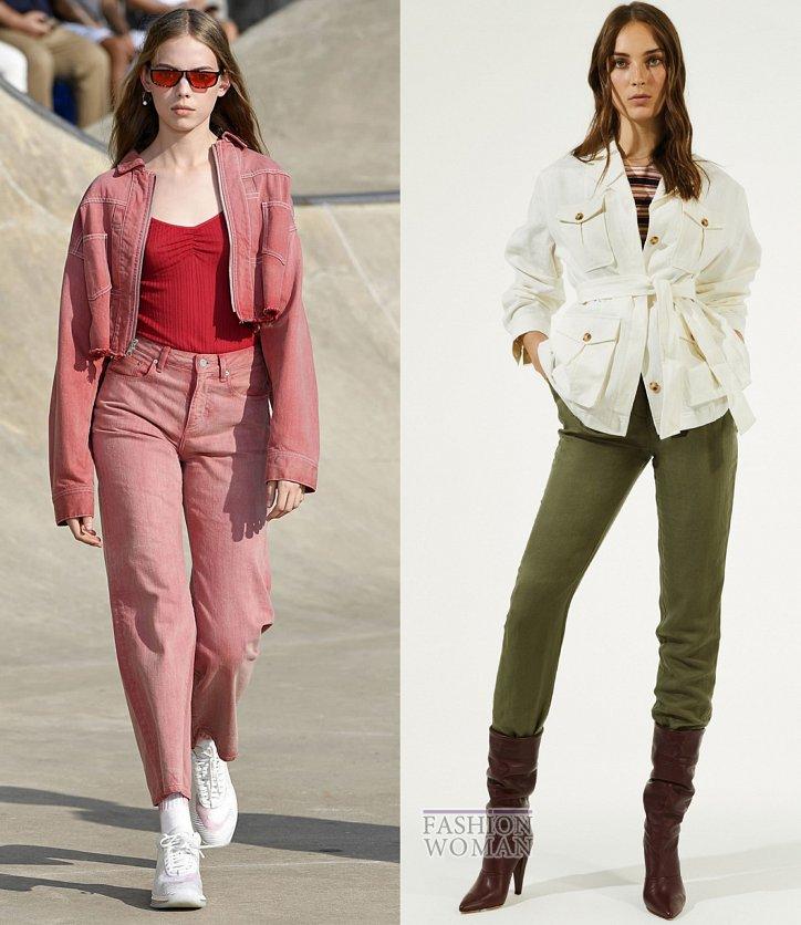 Модные джинсы весна-лето 2019 фото №36