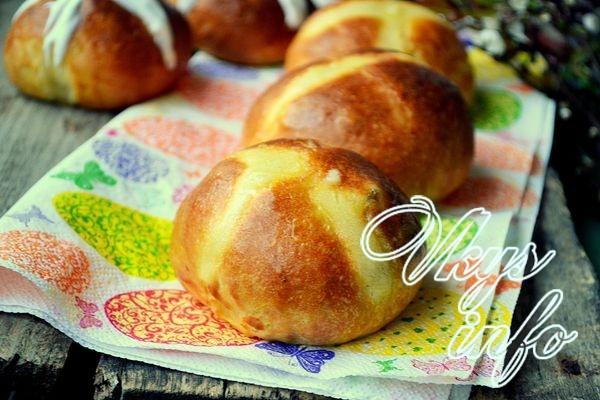 Английские крестовые булочки к Пасхе