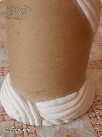 Добрый день, Страна Мастеров!!! Как и обещала, покажу некоторые промежуточные фотографии процесса изготовления напольной вазы с африканскими мотивами. . Фото 5