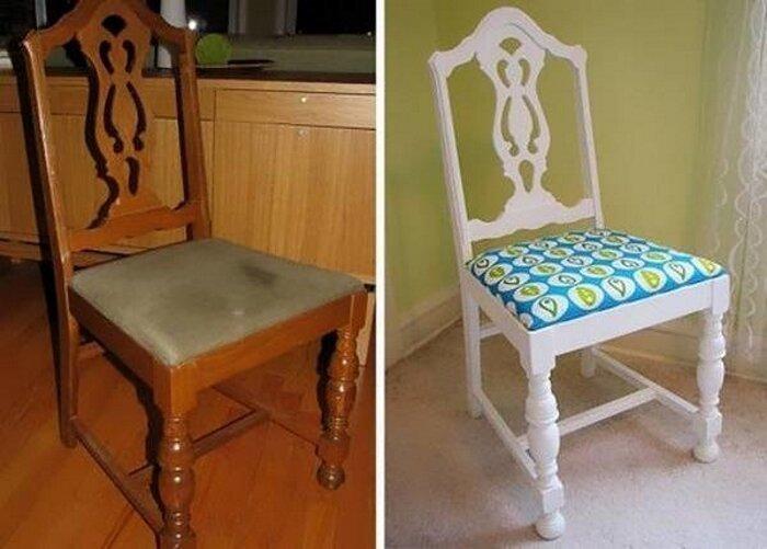 И вновь стул… до и после, идея, мебель, ремонт, своими руками, фантазия