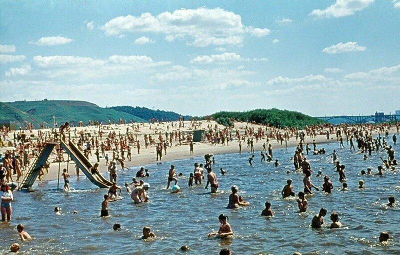Нижний Новгород СССР, пляж, ретроспектива