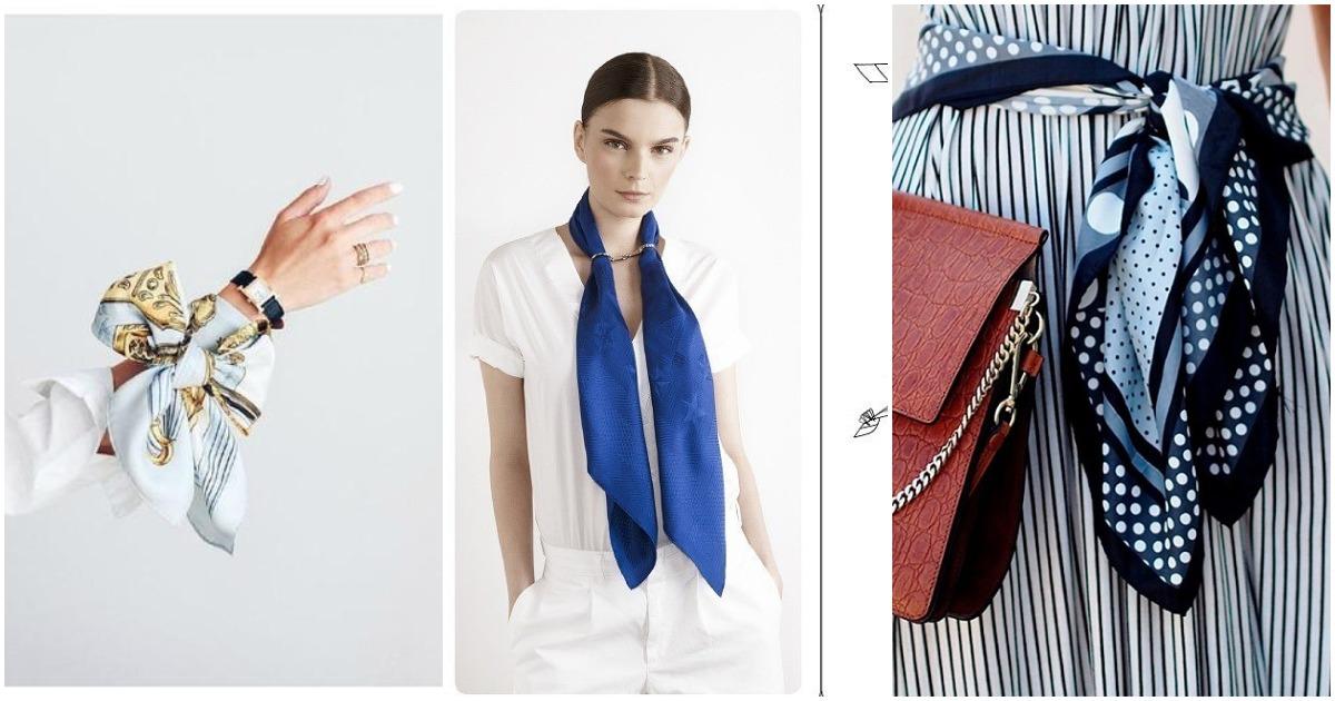 Многоликий шелковый платок: способы носить стильный аксессуар, не выходящий из моды