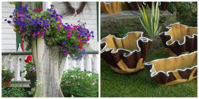 Необычные цветники из старого хлама: двадцать идей для красивой цветочной клумбы