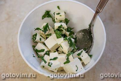 Салат из печеной тыквы со свеклой и брынзой, Шаг 06