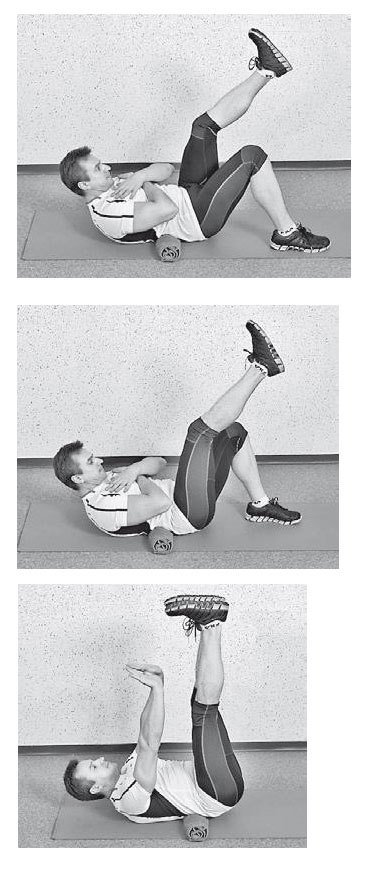 Уникальная гимнастика для спины и суставов валике, вверх, пресса, выполнения, сложности, Степень, брюшного, полумяче, «Лежа, Удерживаете, согнуты, растяжку, вдоль, туловища, положение, вытянуты, земли, коленях, упражнения, этого