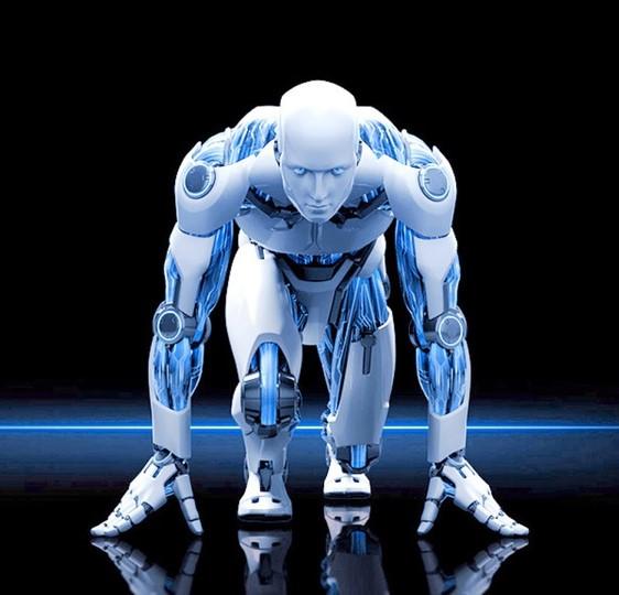 Робот-легкоатлет соревнуется…