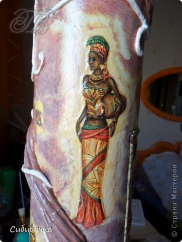 Добрый день, Страна Мастеров!!! Как и обещала, покажу некоторые промежуточные фотографии процесса изготовления напольной вазы с африканскими мотивами. . Фото 16