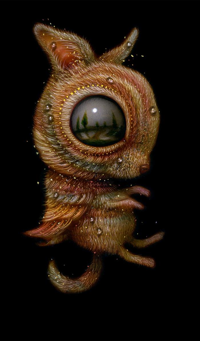 Большеглазые существа Naoto Hattori