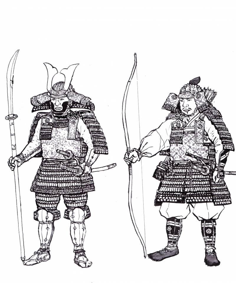 Самураи. Оружие в графике