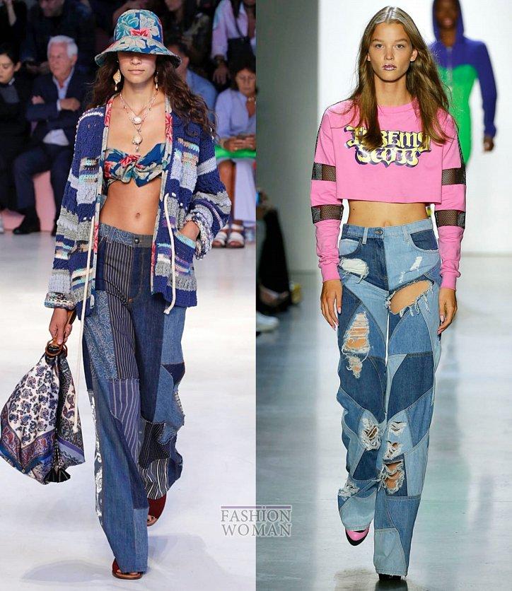 Модные джинсы весна-лето 2019 фото №16