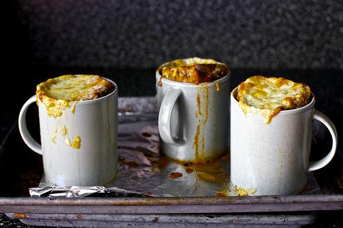 Томатный суп запеченный в духовке с сыром