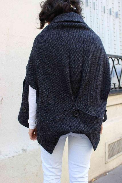 Переделка пальто в стильный кейп