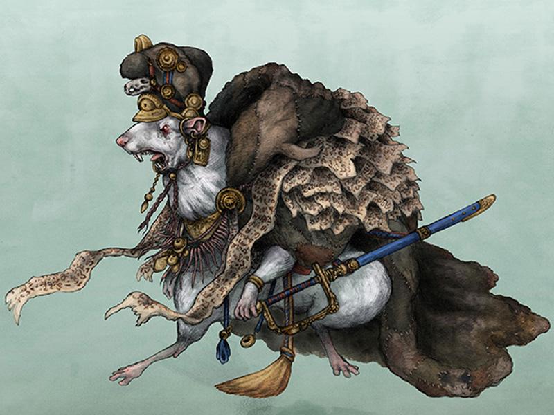 Крысиный король: средневековое существо, которое соединяется из нескольких крыс
