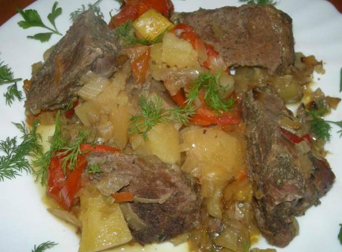 Рагу из говядины с овощами способом медленной готовки