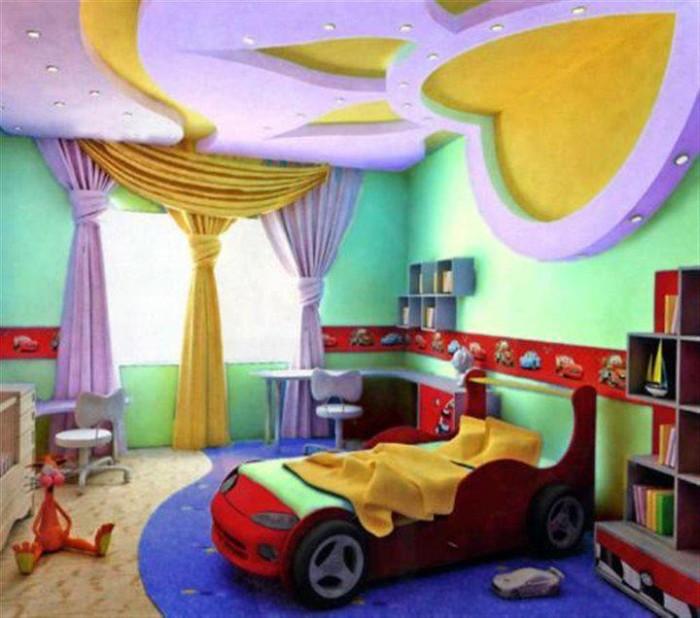 Фото 20 — Дизайн потолка в детской